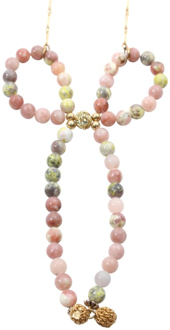 Item - Multicolor Beaded Bow Necklace