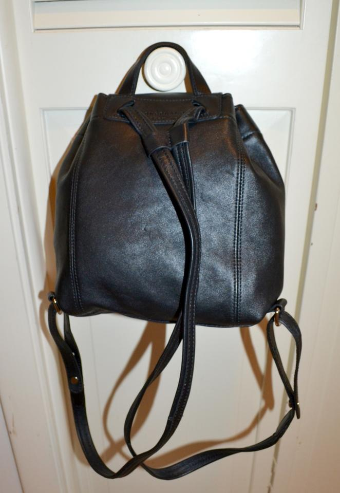 441c63f142 Longchamp Paris Le Pliage Cuir Small Black Leather Backpack - Tradesy