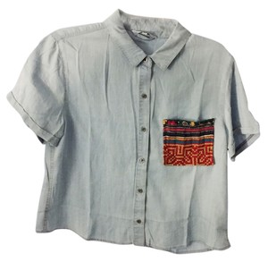 Village Vibrations Vintage Madewell Button Down Shirt Multi