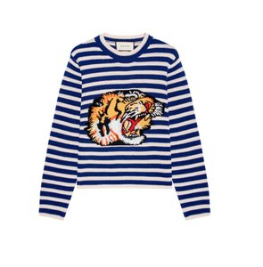 Gucci Gg Exaggerated Striped Wool Sweater