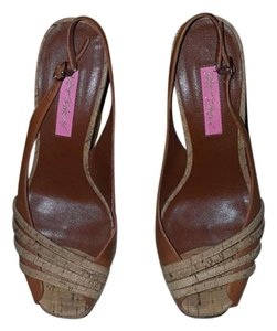 Betsey Johnson Brown Wedges