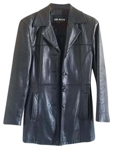 Luis Alvear Buttery Leather Soft Leather Leather Mid Length Black Jacket