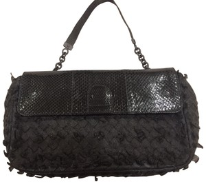 Bottega Veneta Intrecciato Tote Evening Black Clutch