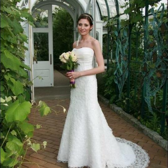 Easy Simple Non Traditional Wedding Dresses: Casablanca Couture Off-white Open Lace Traditional Wedding