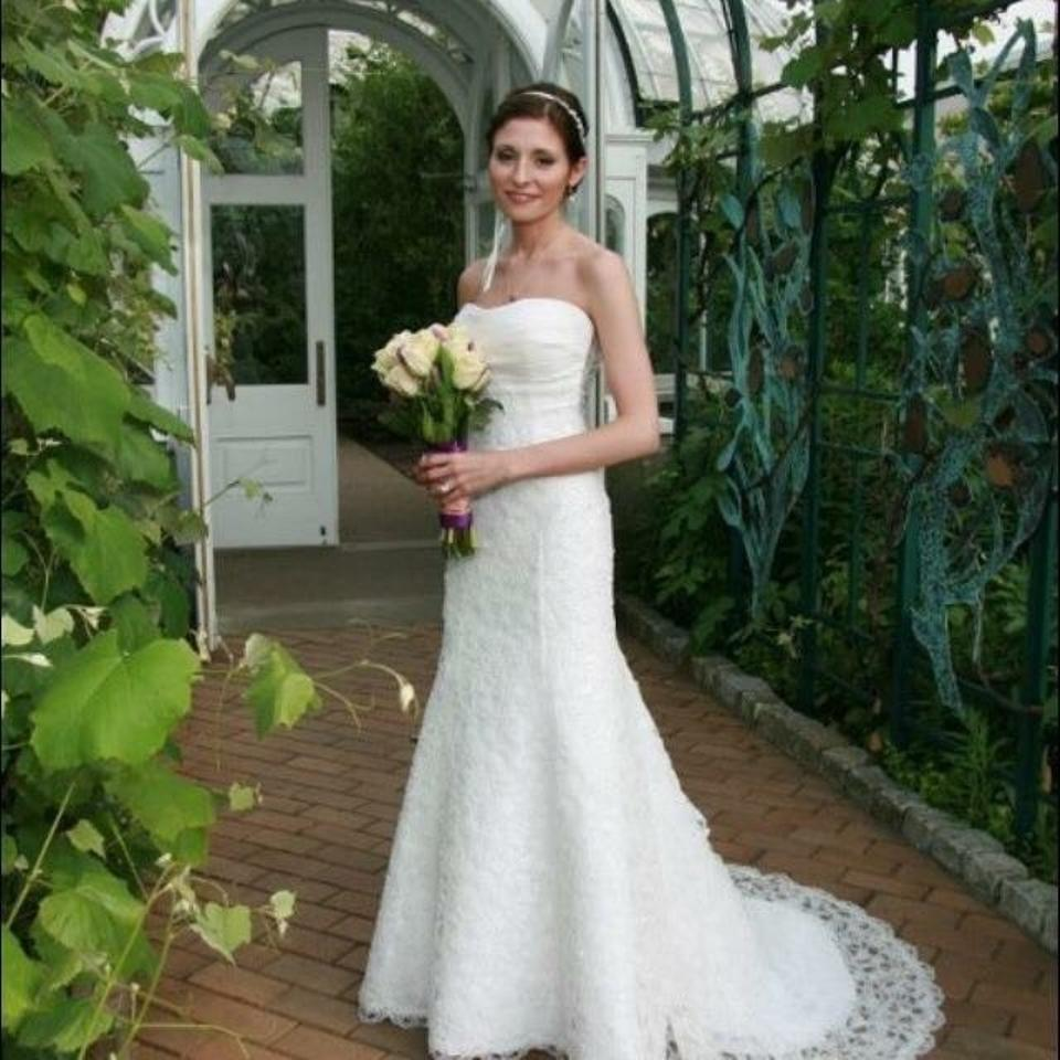 Casablanca couture off white open lace traditional wedding Wedding dress xs