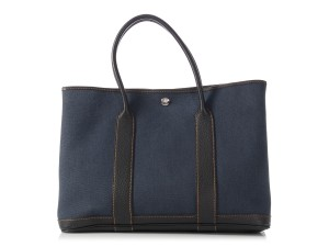 Hermès Denim Evercalf 36 Hr.l1024.07 Tote in Navy Blue