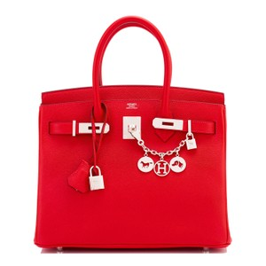 Hermès Birkin 30 Birkin 30 Red Birkin Satchel in Rouge Casaque