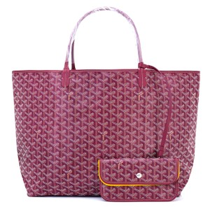 Goyard St Louis Gm Gm Tote in Burgundy