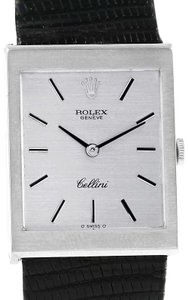 Rolex Rolex Cellini 18K White Gold Silver Dial Mens Vintage Watch 4014