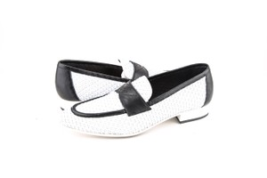 Chanel Mocassin Loafers White/Black Shoes
