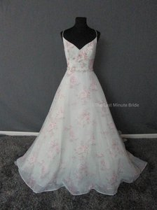 Sottero and Midgley Azure Blue Tea Rose Chiffon Kira 6sw781 Feminine Wedding Dress Size 10 (M)