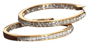 Michael Kors New Michael Kors Inside Outside Pave Hoop Earrings Gold