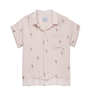 Spiritual Gangster Button Down Shirt pink
