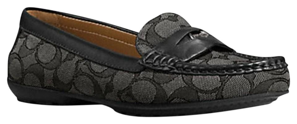 6f3998e176a Coach Black Penny Loafer Flats Size US 7 Regular (M