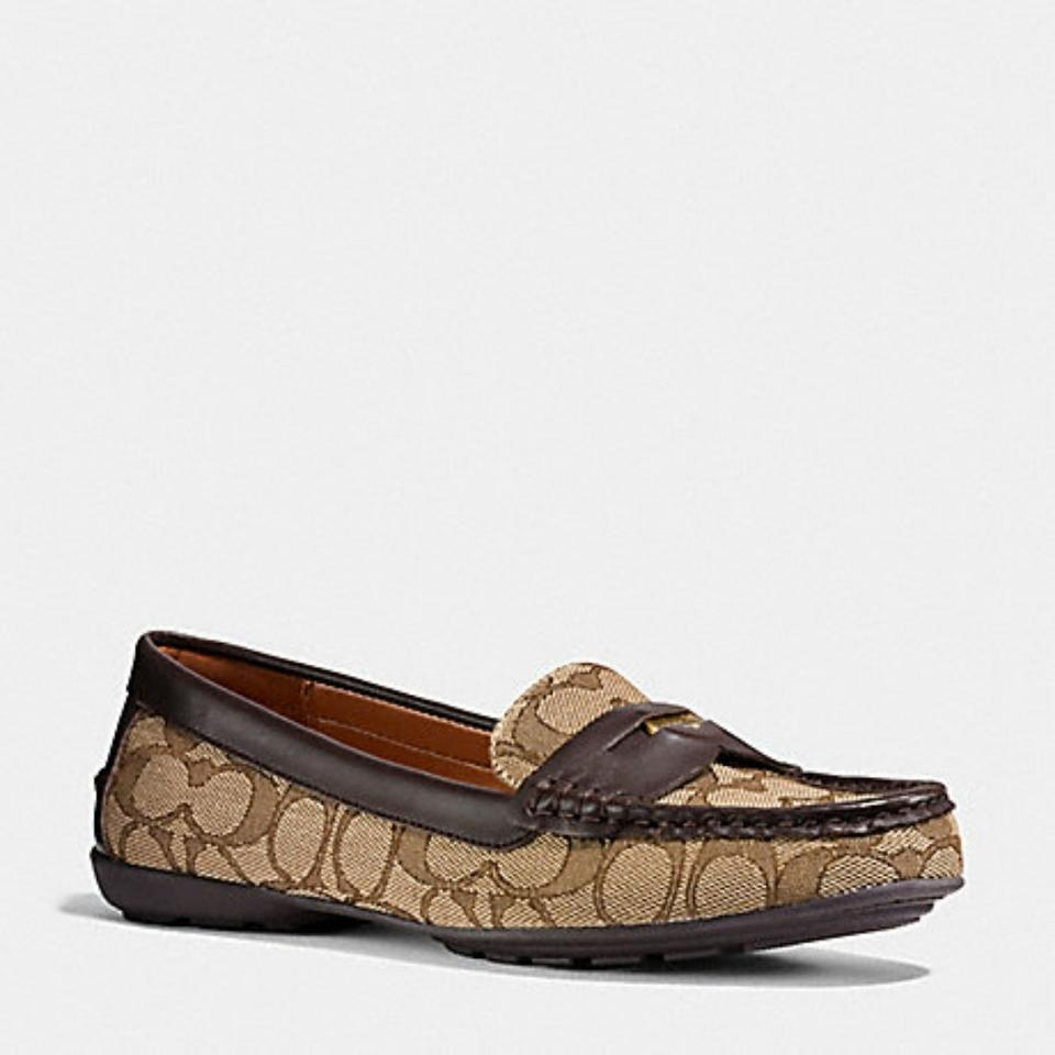 5283289199d Coach Brown Penny Loafer Flats Size US 7.5 Regular (M