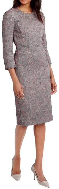 "Item - Gray Tweed Midi Black Neon Multi 42"" Long Lined Mid-length Casual Maxi Dress Size 8 (M)"