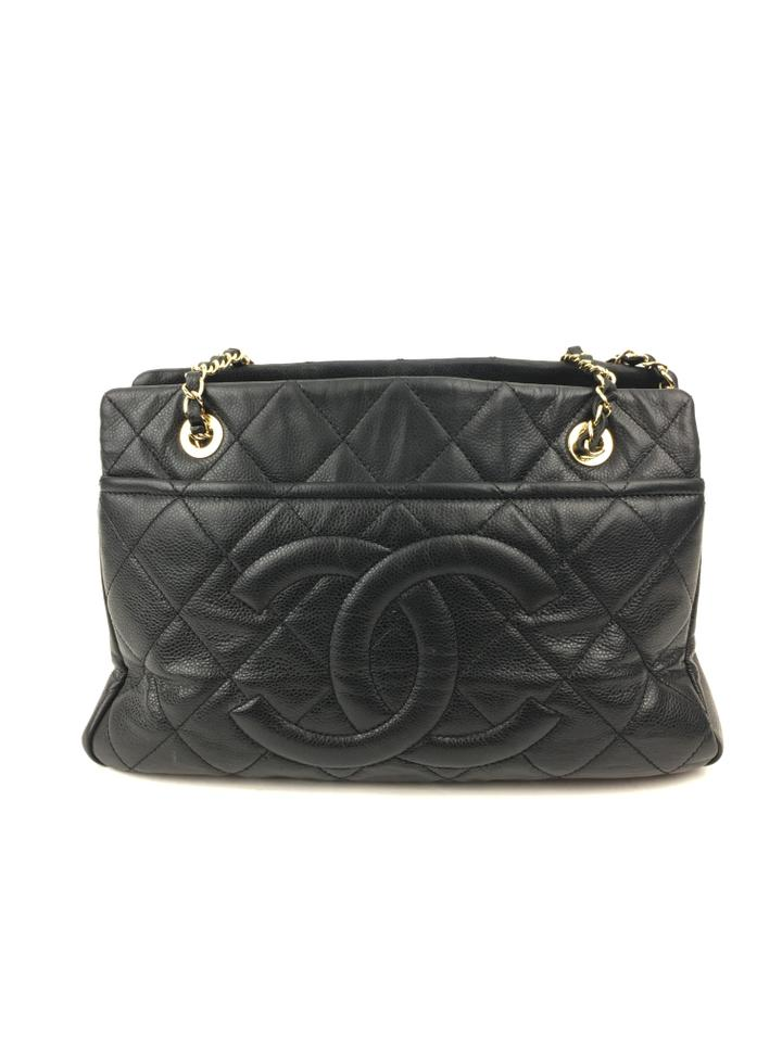 Chanel Black Leather Timeless Tote - Tradesy : black chanel quilted bag - Adamdwight.com