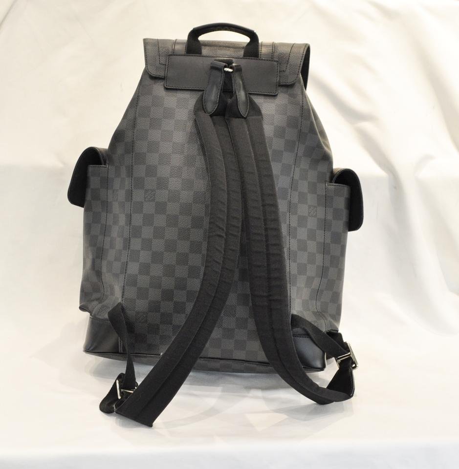 59c3fbf6501c Louis Vuitton Damier Graphite Christopher Pm Black Canvas Backpack ...
