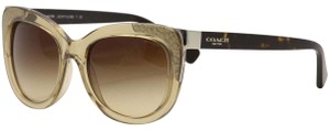 Coach AUTHENTIC Coach HC8171 536913 Sunglasses Crystal Lt Brown: Dk Tortoise