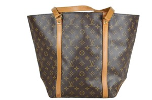 Louis Vuitton Sac Shopping Shoulder Tote in Brown