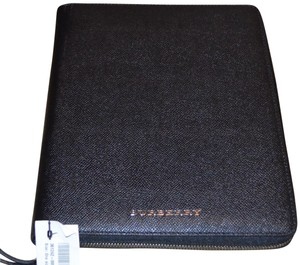 Burberry London CALF SKIN LEATHER IPAD TABLET TECH CASE ZIP COVER