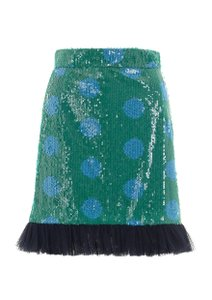 House of Holland Sequin Polka Dot Pattern Tulle Festive Skirt
