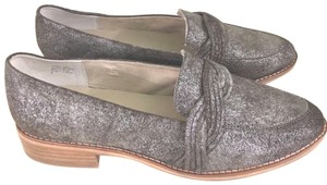Anthropologie Silver Mules