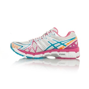 Asics Running Leather Limited Edition Rearfoot Gel White/Gulf Stream/berry Athletic