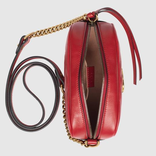 eca33e562f75 Gucci Marmont Shoulder Red Leather Cross Body Bag | Stanford Center ...