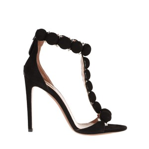ALAÏA Bombe Stiletto Spike Ankle Strap Studded black Pumps