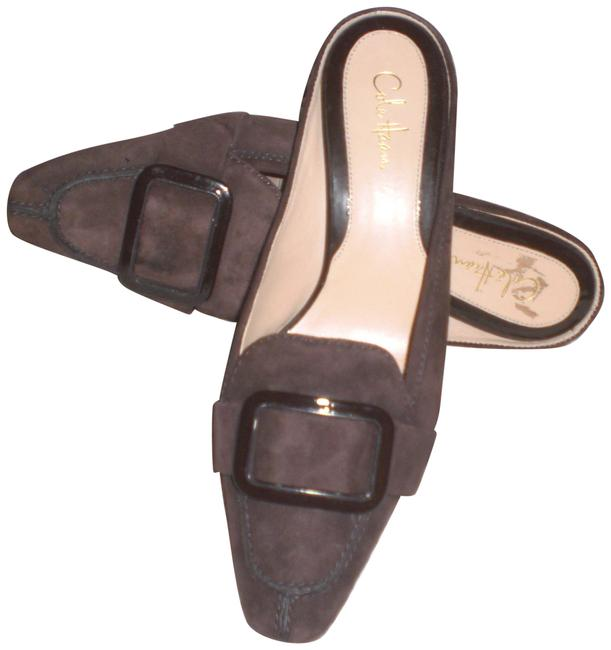 Item - Brown Suede Leather Pointed Toe with Buckle Mules/Slides Size US 6.5 Regular (M, B)