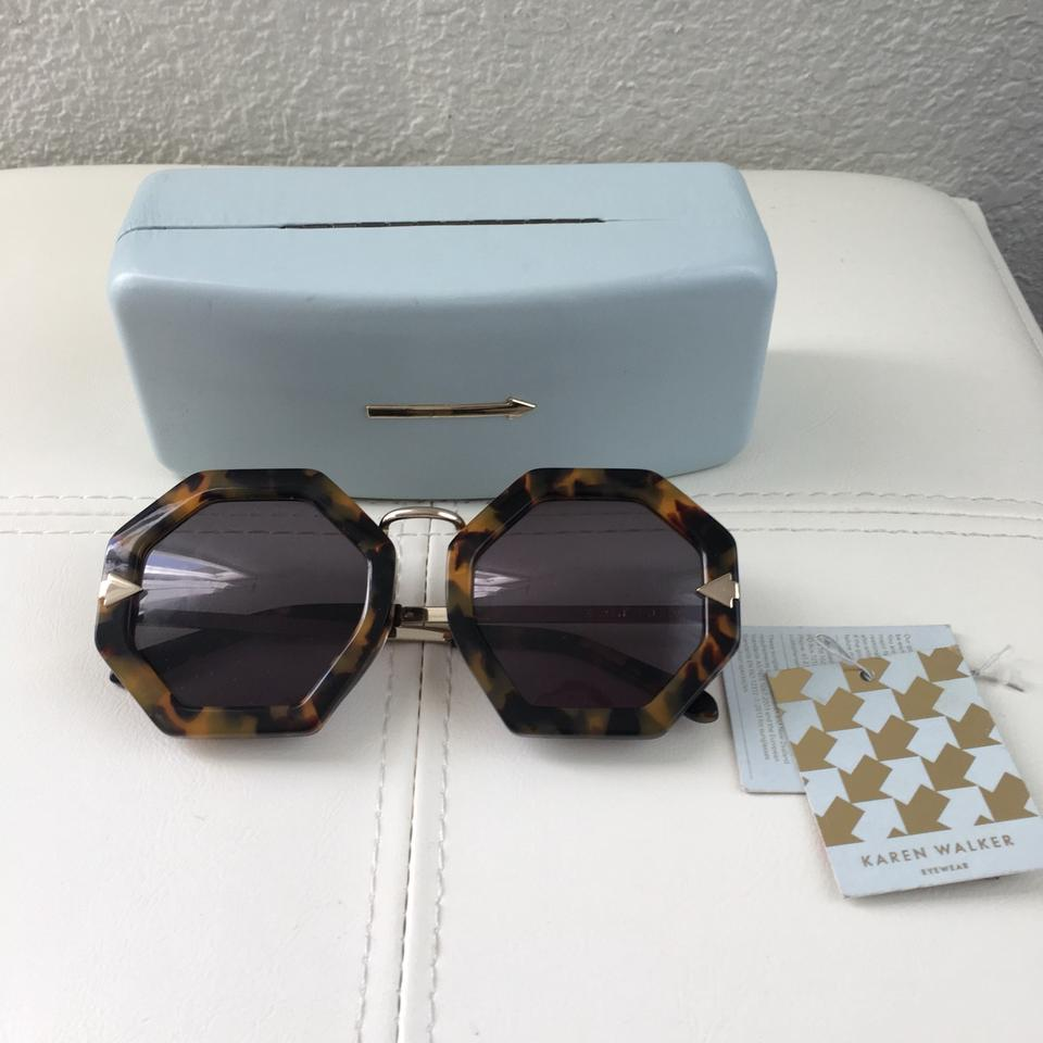 5610e331bec7 Karen Walker Moon Disco Octagonal Tortoise Smoke Lens Box Sunglasses ...