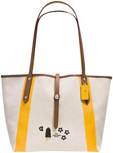 Coach Tote in Sv/Chalk Yellow