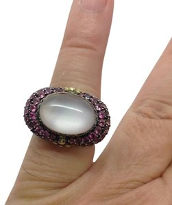 Barbara Bixby tourmaline Mother-of-Pearl Sterling silver 18k ring
