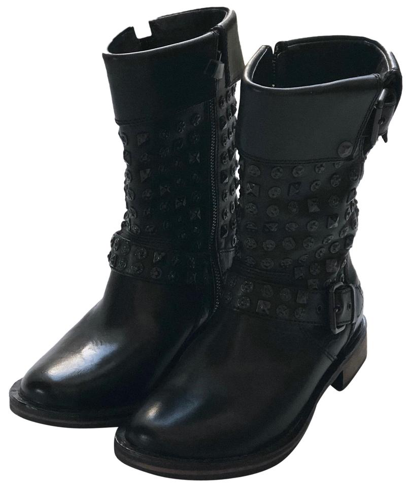 really cheap best value new lower prices UGG Australia Black Conor Studded Leather Shearling Lining Mid Calf  Boots/Booties Size US 6 Regular (M, B) 59% off retail