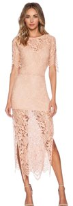 For Love & Lemons Wedding Guest Pastel Blush Dress