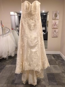 Maggie Sottero Gold Lace Emma Traditional Wedding Dress Size 16 (XL, Plus 0x)