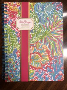 Lilly Pulitzer Mini notebook featured in lovers coral