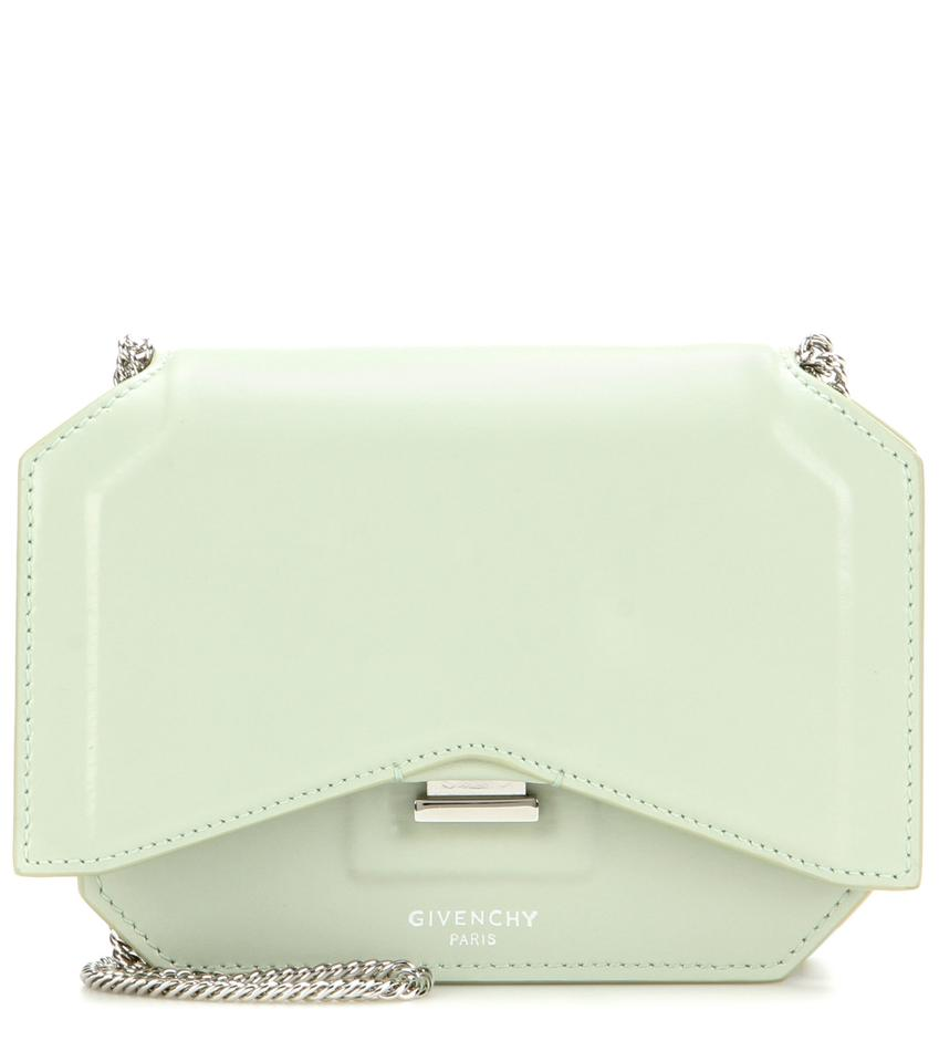 Givenchy Bow-cut Flap Wallet On Chain Mint Leather Cross Body Bag ... c890fe822b