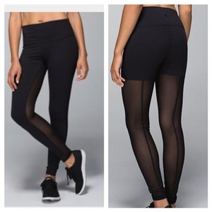 d13f1a757f6fde Lululemon Black High Rise Mesh Pants Leggings Activewear Sportswear ...