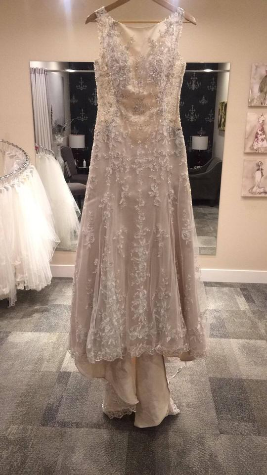 b233dabcece Maggie Sottero Ivory Champagne Lace Aspen Traditional Wedding Dress Size 6  (S) Image 0 ...
