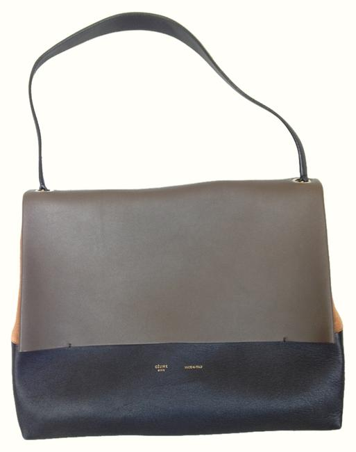 Item - All Color Block Soft Multicolor Leather Tote