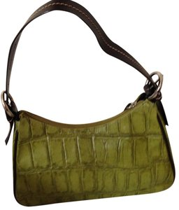 4c05090aecf Coldwater Creek Crocodile Shoulder Bag. Coldwater Creek Crocodile Green Dark  Brown Faux Leather ...