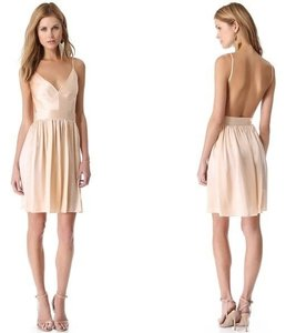 ONE by Contrarian Backless Silk Peach Dress