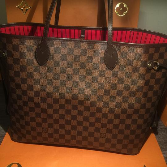 louis vuitton made in france new 2017 neverfull pouch monogram gm ships next day tote tradesy. Black Bedroom Furniture Sets. Home Design Ideas