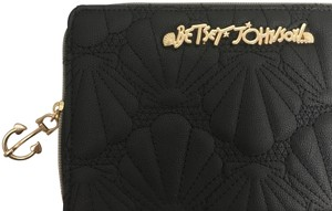 Betsey Johnson black/ gold Clutch