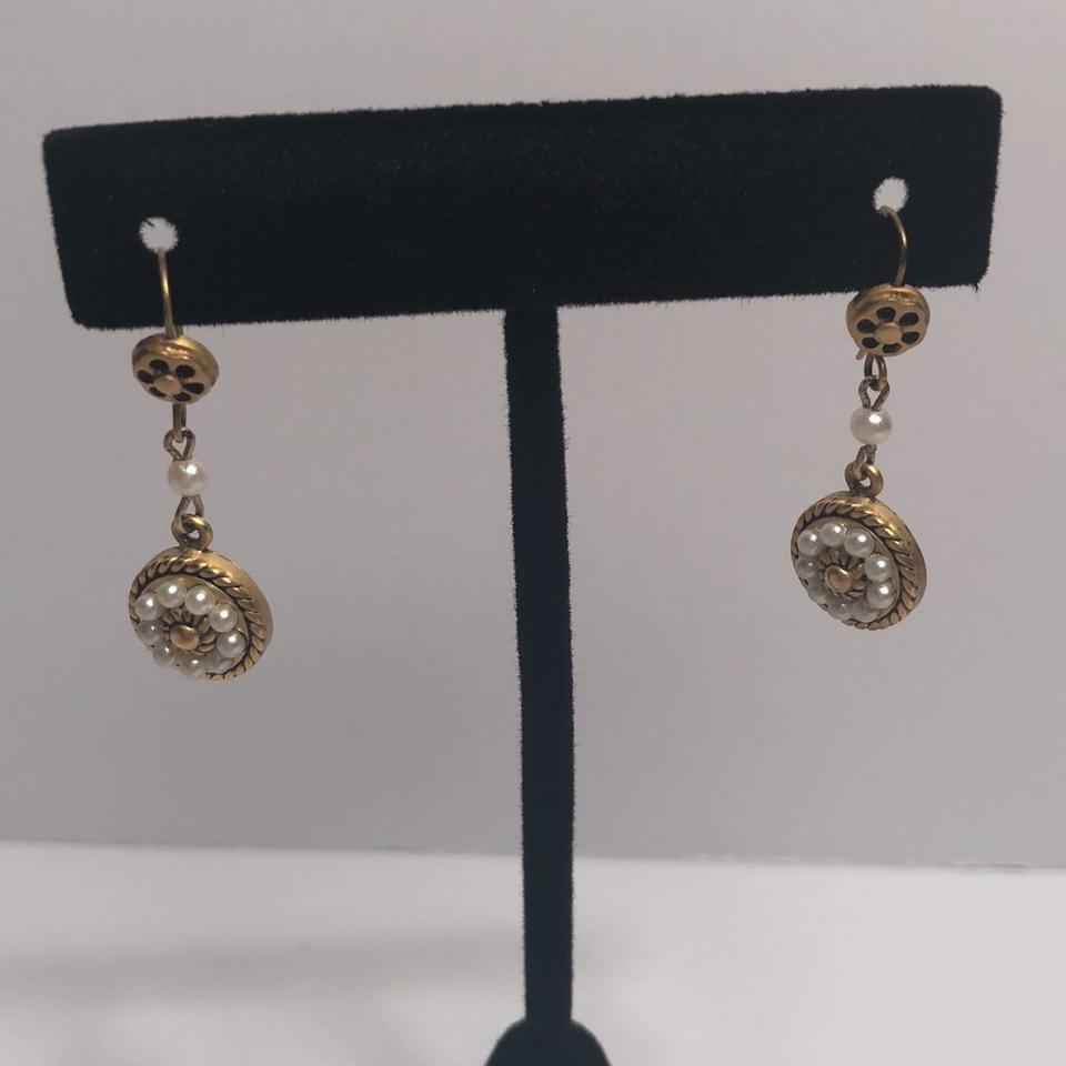 gold designed earrings stamens fancvever delicate products