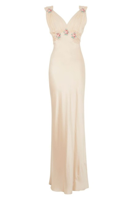Topshop Embroidered Silk Wedding Classy Dress Image 1