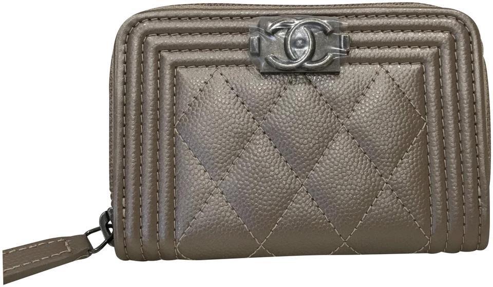 5b8fb9b05b5 Chanel Dark Beige Boy New Quilted Card Case Wallet - Tradesy