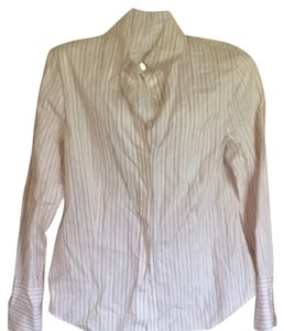 Ellen Tracy Button Down Shirt White